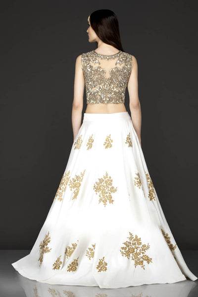 105 White Beautiful Designer Blue Color Party Wear Lehenga Choli-Bridal Lehenga Store CMH101