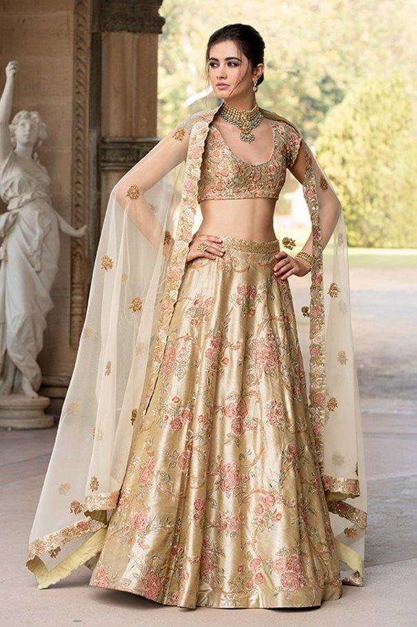 Beautiful Exclusive Designe Beige Color Bridal Lehenga Choli-Bridal Lehenga Store