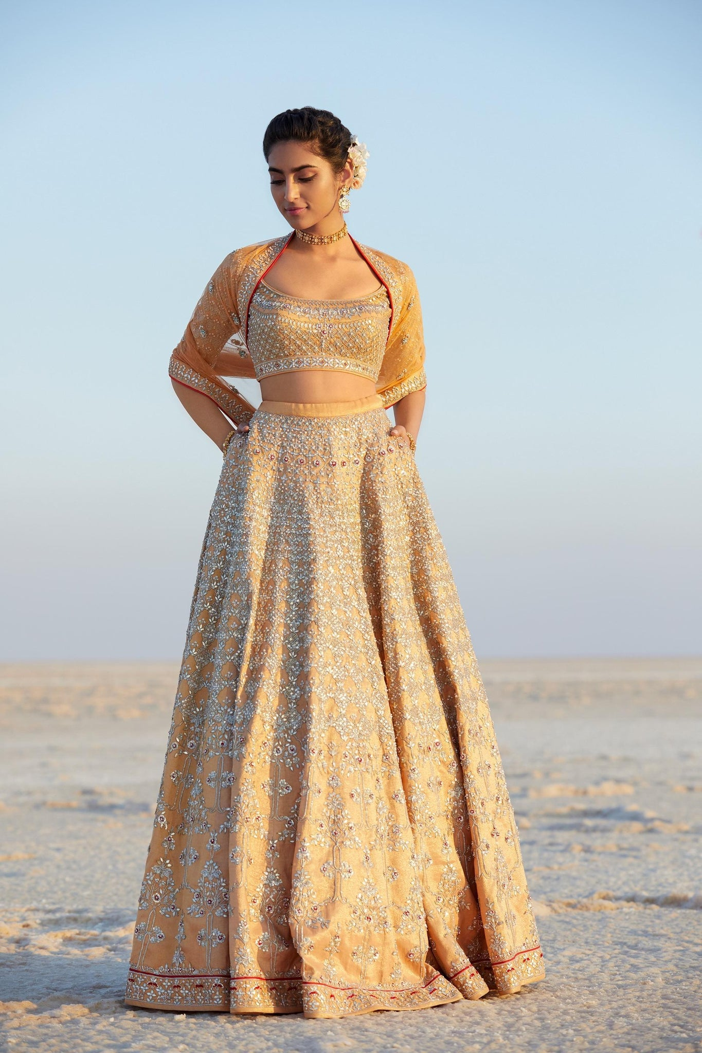 Beautiful Exclusive Designe Aari Lehenga-Bridal Lehenga Store