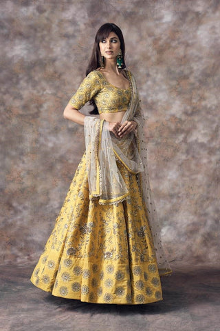 Beautiful Designer Yellow Color Party Wear Lehenga Choli -Bridal Lehenga Store