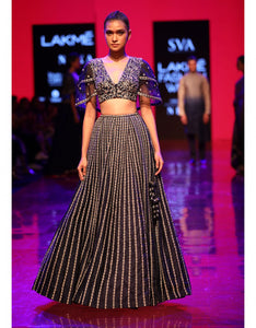 Black Color Sequence Embroidered Bridal Lehenga-Bridal Lehenga Store CME035