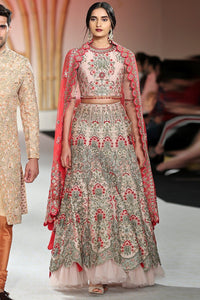 Exclusive Designer Powder pink lehenga set-Bridal Lehenga Store
