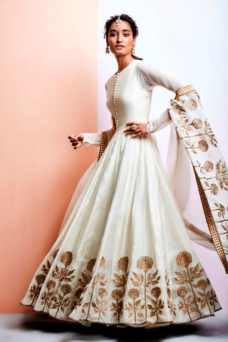 White Color Beautiful Exclusive Designer Party Wear Dress CMD038