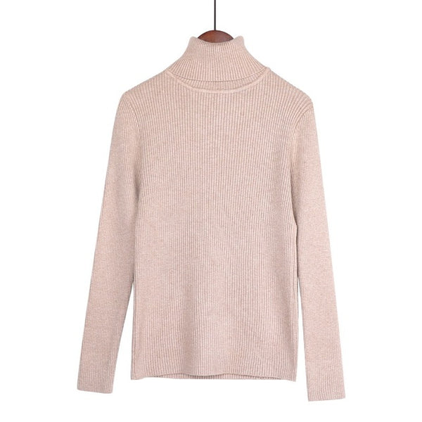 Solid Basic Knitted Sweater