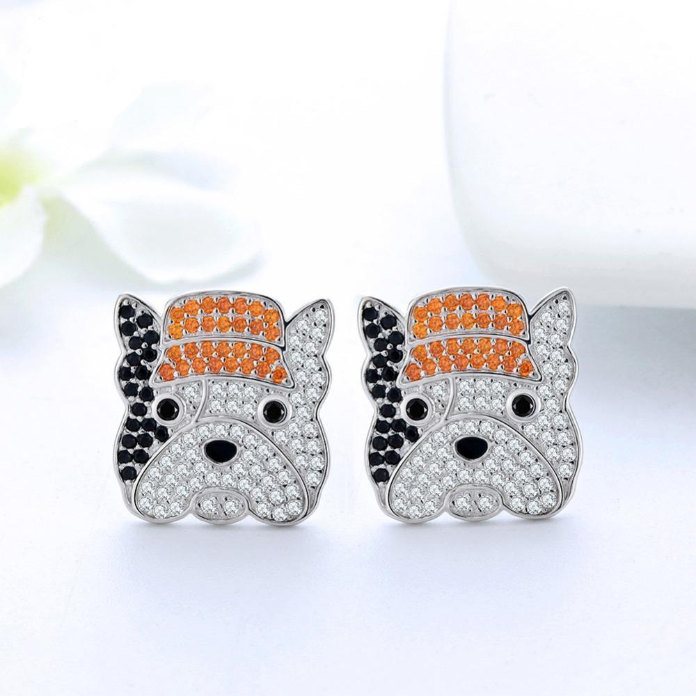 Coco Frenchie Earrings with Zircons