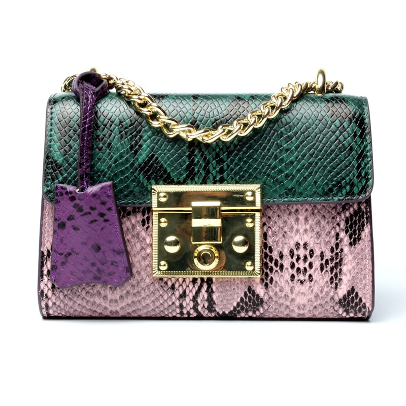Luxury Snakeskin Handbag