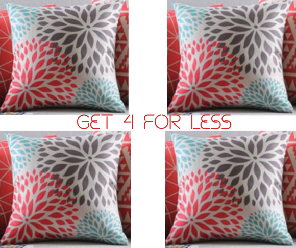 CUSHION PILLOWS SET OF 4 PCS - The Jardine Store