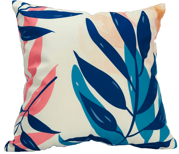 Cushion Throw Pillow - Beautiful Leaf Cushion Pillow (FILLING INCLUDED) - The Jardine Store