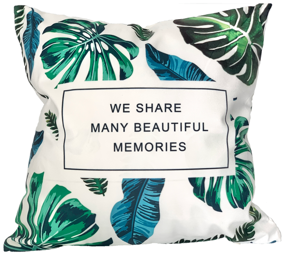 Cushion Throw Pillow - Beautiful Memories Leaf Home Decor (FILLING INCLUDED) - The Jardine Store
