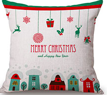 Cushion Throw Pillow -Merry Christmas (Filling Included) - The Jardine Store