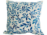 Cushion Throw Pillow - Modern Blue Leaves Style Velvet (Filling Included) - The Jardine Store