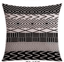 Decorative Linen Cotton Pattern Cushion (FILLING INCLUDED) - The Jardine Store