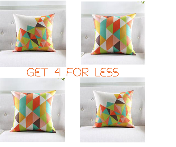 DIAMOND CUT CUSHION PILLOWS SET OF 4 PCS - The Jardine Store