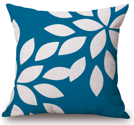 Digital Printed Leaf Pillow (FILLING INCLUDED) - The Jardine Store