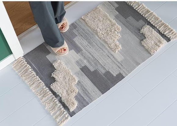 Modern Design Handmade Tufted Floor Mat 60CM (W) X 90CM (L) - The Jardine Store