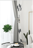 Montanez Grey & White Curtain Panel - The Jardine Store