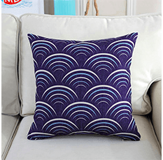 Ocean Wave Custom Pillow For Home Decor (FILLING INCLUDED) - The Jardine Store