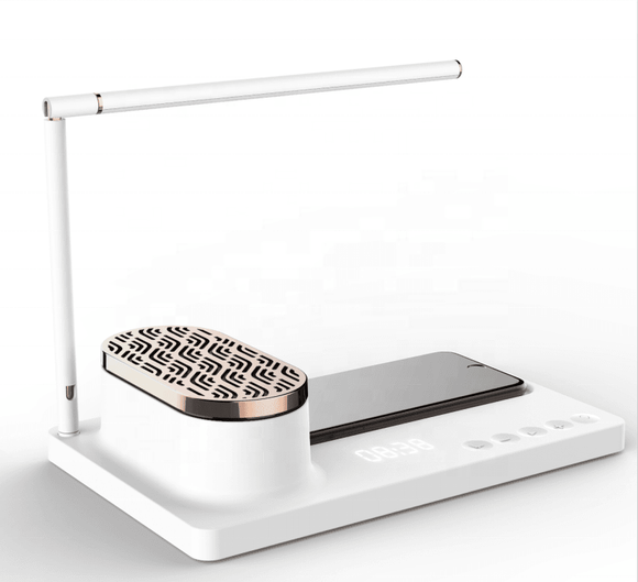 Office Desk Lamp with Wireless Charging and Bluetooth Speaker - The Jardine Store