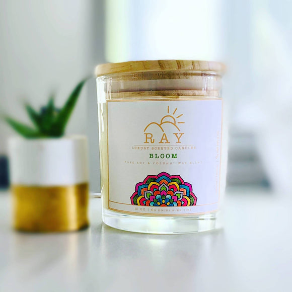 RAY Scented Candle - BLOOM - The Jardine Store
