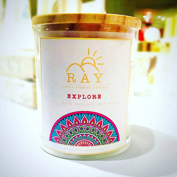 RAY Scented Candle - EXPLORE - The Jardine Store