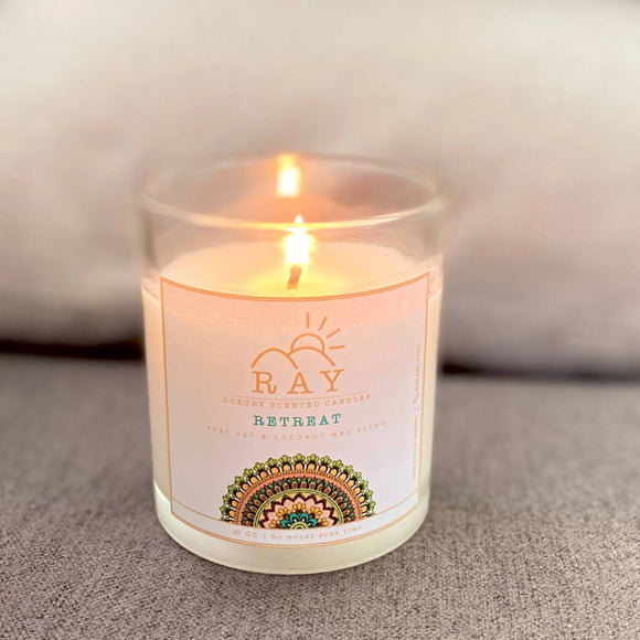 RAY Scented Candle - RETREAT - The Jardine Store