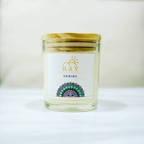 RAY Scented Candle - UNWIND - The Jardine Store