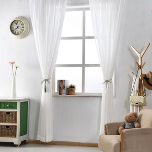 Sheer Curtain Panel (WHITE) - The Jardine Store