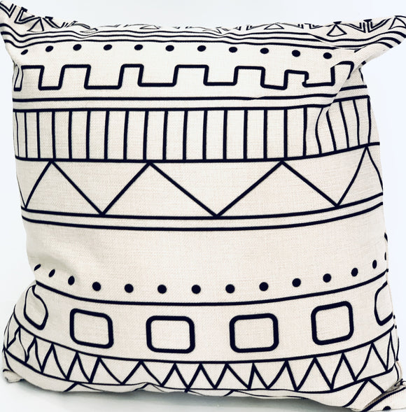 Tribal Cushion For Sofa Seat Double Sided Print (FILLING INCLUDED) - The Jardine Store