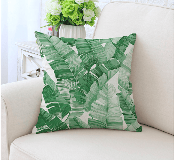 Tropical Leaf Cushion Pillow Great Home Decor Double Sided Print (FILLING INCLUDED) - The Jardine Store