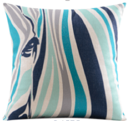 Zebra Cushion Pillow (Filling Included) - The Jardine Store