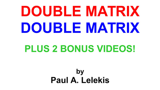 DOUBLE MATRIX by Paul A. Lelekis Mixed Media DOWNLOAD