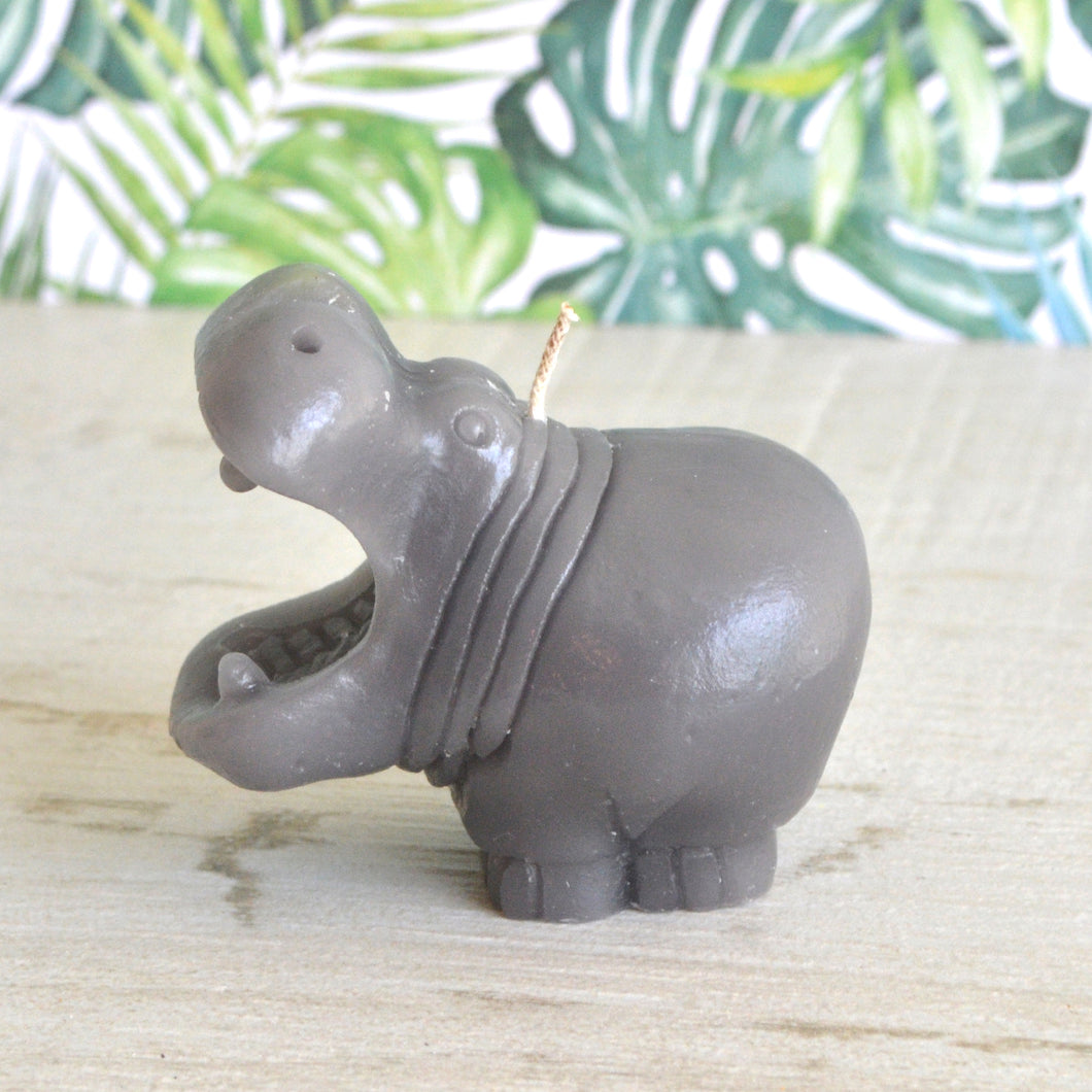 Hippopotamus for Christmas Hippo Candle