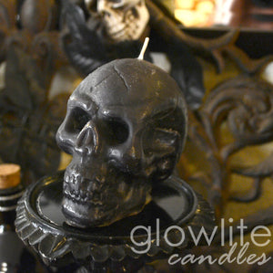 Black Skull Candle