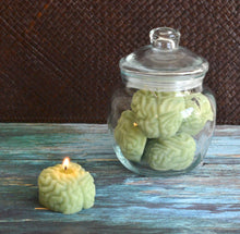Load image into Gallery viewer, Zombie Brain Candles in a Jar.