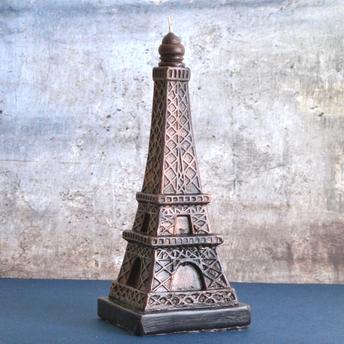 AGED BRONZE EIFFEL TOWER CANDLE