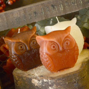 3 Owl Candles
