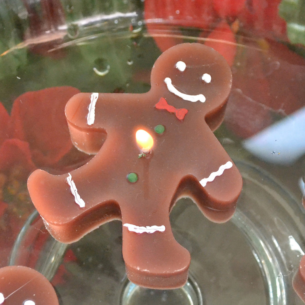 Floating Gingerbread Candles 2 Pack