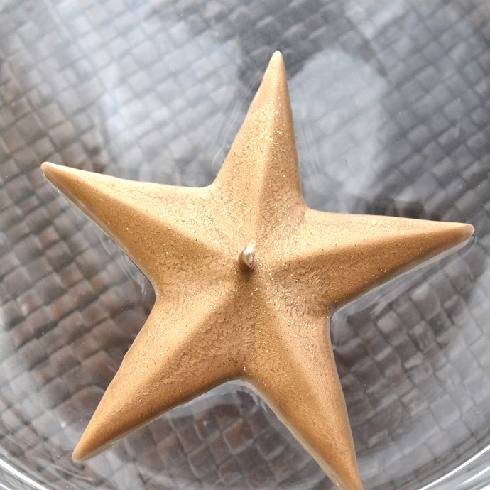 Gold Star Floating Candles