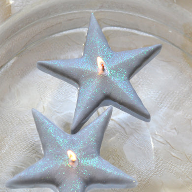 Silver Star Floating Candles