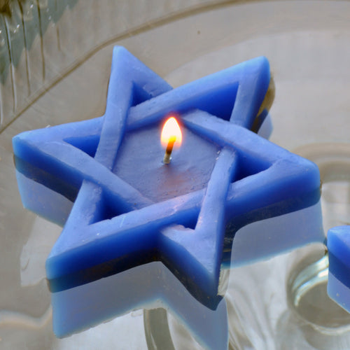 Star of David Candles pack of 8