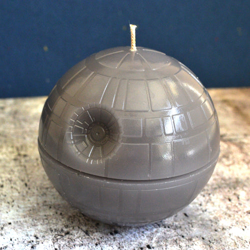 Gray Death Star Candle