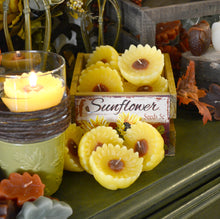 Load image into Gallery viewer, 1 DOZEN SUNFLOWER FLOATING CANDLES