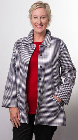 Black and White Check Jacket S3030