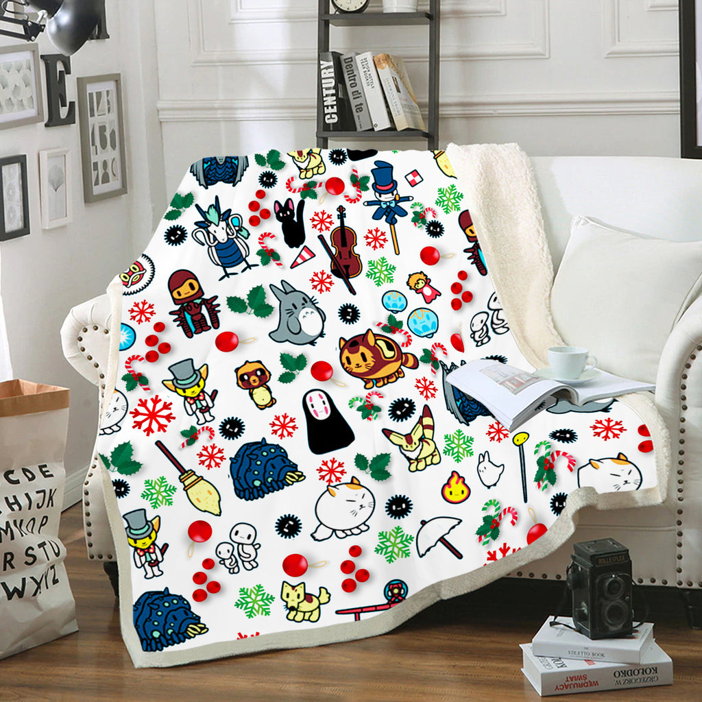 Christmas Chibi GiBi 2 Fleece Blanket