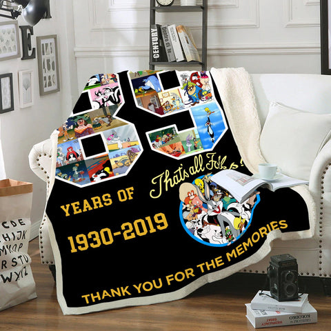 89 Years 3D Fleece Blanket