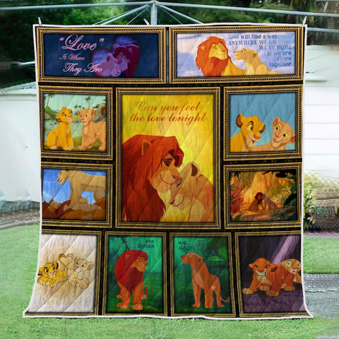 Image of LION LOVE 3D QUILT