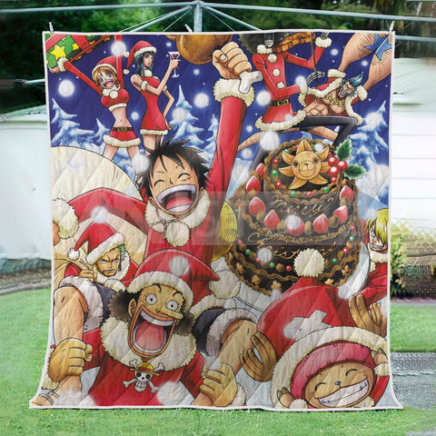 Christmas Pirate Straw Hat OP Quilt