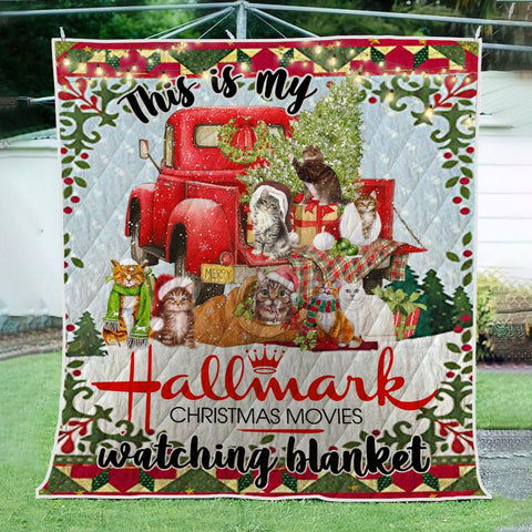 Image of CAT CHRISTMAS 3D QUILT