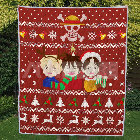 Christmas Ugly Three Brothers Pirate OP Quilt