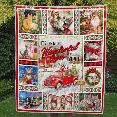 Image of CAT CHRISTMAS 2 3D QUILT